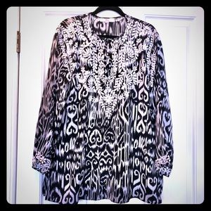 Amaya 100% Silk Tunic Blouse